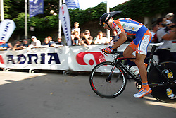 Demarin Massimo (CRO) of Loborika Favorit Team at prologue (6,6km) of Tour de Slovenie 2011, on June 16 2011, in Ljubljana, Slovenia. (Photo by Urban Urbanc / Sportida)