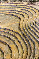 Moray, Incas ruins in the peruvian Andes at Cuzco Peru