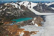 view north across Brucejack minesite and Brucejack Lake.  Brucejack Mine.  Transboundary Mines, 2017