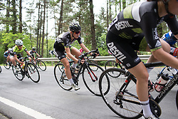 Pauliena Rooijakkers (NED) of Parkhotel Valkenburg Cycling Team leans into a corner during the second lap of the Durango-Durango Emakumeen Saria - a 113 km road race, starting and finishing in Durango on May 16, 2017, in the Basque Country, Spain.