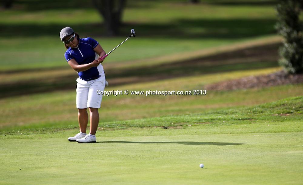 Sally Choi on the final day of the Taranaki Energy Open, New Plymouth Golf Club, New Zealand. Sunday 14 April, 2013. Photo: John Cowpland / photosport.co.nz