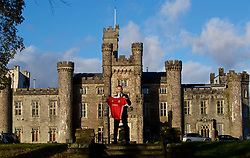 CARDIFF, WALES - Monday, January 15, 2018: Ryan Giggs poses with a Wales shirt outside Hensol Castle after the former Manchester United player's announcement as the new Wales national team manager. (Pic by David Rawcliffe/Propaganda)