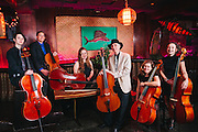 Portland Cello Project, photographed at The Alibi in Portland.