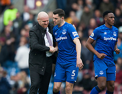 Burnley manager Sean Dyche (L) and Michael Keane of Everton before the match - Mandatory by-line: Jack Phillips/JMP - 05/10/2019 - FOOTBALL - Turf Moor - Burnley, England - Burnley v Everton - English Premier League
