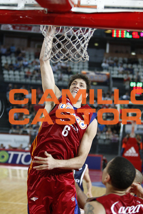 DESCRIZIONE : Roma Lega A 2008-09 Playoff Quarti di finale Gara 3 Lottomatica Virtus Roma Angelico Biella<br /> GIOCATORE : Angelo Gigli<br /> SQUADRA : Lottomatica Virtus Roma<br /> EVENTO : Campionato Lega A 2008-2009 <br /> GARA : Lottomatica Virtus Roma Angelico Biella<br /> DATA : 22/05/2009<br /> CATEGORIA : schiuacciata<br /> SPORT : Pallacanestro <br /> AUTORE : Agenzia Ciamillo-Castoria/E.Castoria