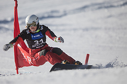 Biela Weronika during the women's Snowboard giant slalom of the FIS Snowboard World Cup 2017/18 in Rogla, Slovenia, on January 21, 2018. Photo by Urban Meglic / Sportida