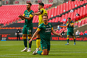 Notts County midfielder Michael Doyle (8) during the Vanarama National League Promotion Final match between Harrogate Town and Notts County at Wembley Stadium, London, England on 2 August 2020.