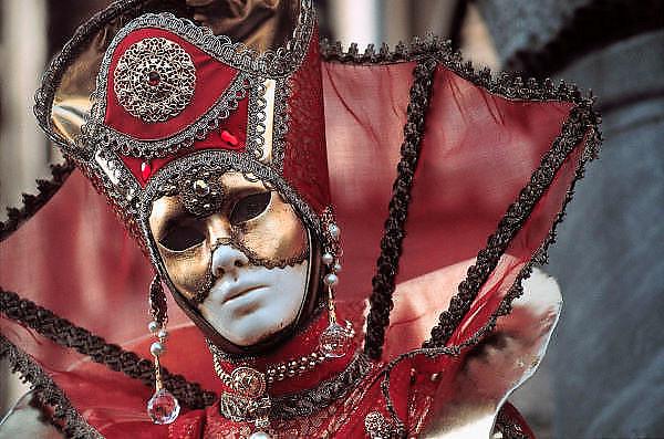 Italie, Veneyie, 6-2-2010Carnaval van Venetie.Foto: Flip Franssen