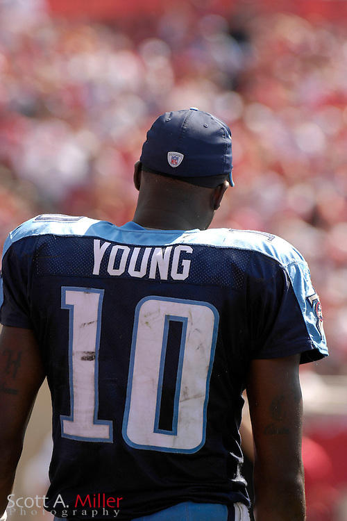 Oct. 14, 2007; Tampa, FL, USA; Tennessee Titans quarterback Vince Young (10) during his team's game against the Tampa Bay Buccaneers at Raymond James Stadium. ...©2007 Scott A. Miller