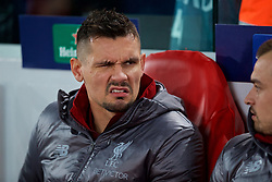 LIVERPOOL, ENGLAND - Tuesday, December 11, 2018: Liverpool's substitute Dejan Lovren during the UEFA Champions League Group C match between Liverpool FC and SSC Napoli at Anfield. (Pic by David Rawcliffe/Propaganda)