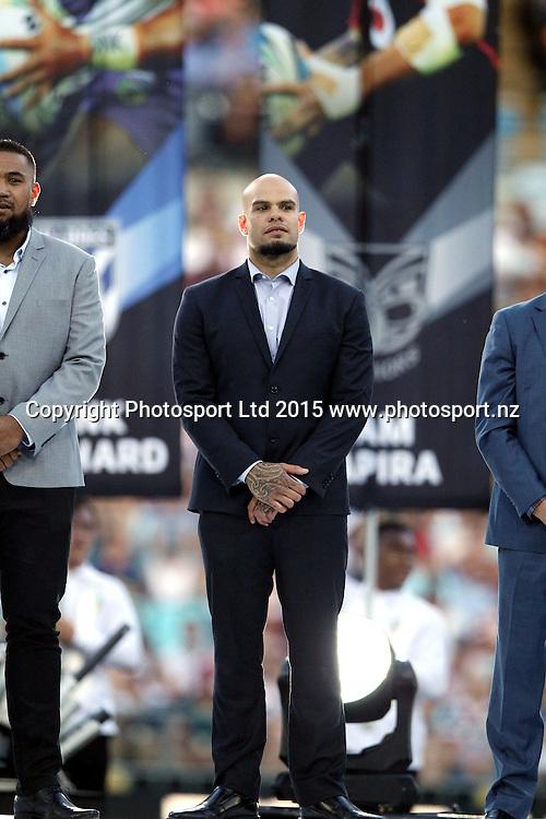 Sam Rapira farewell<br /> Broncos v Cowboys NRL Grand Final rugby league match at ANZ Stadium, Homebush Australia. Sunday 4 October 2015. Photo: Paul Seiser/Photosport.nz