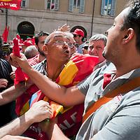 Manifestazioni contro la riforma del lavoro e il ministro Fornero.