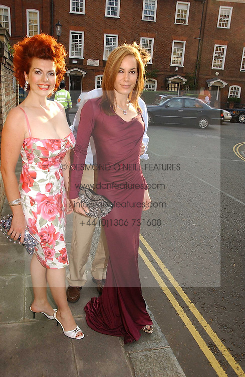 Left to right, CLEO ROCCOS and TARA PALMER-TOMKINSON at Sir David & Lady Carina Frost's annual summer party held in Carlyle Square, Chelsea, London on 5th July 2006.<br /><br />NON EXCLUSIVE - WORLD RIGHTS