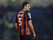 AFC Bournemouth defender Tommy Elphick during the Sky Bet Championship match between Brighton and Hove Albion and Bournemouth at the American Express Community Stadium, Brighton and Hove, England on 10 April 2015.