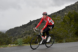December 15, 2017 - Majorca, SPAIN - Belgian Nikolas Maes of Lotto Souda pictured in action during a press day during Lotto-Soudal cycling team stage in Mallorca, Spain, ahead of the new cycling season, Friday 15 December 2017. BELGA PHOTO DIRK WAEM (Credit Image: © Dirk Waem/Belga via ZUMA Press)