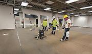 Members of the Project Advisory Team tour construction at Furr High School, April 6, 2017.