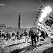 The 2009 Tax Day Tea Party protests - this one occurring at Liberty Memorial, downtown KCMO.