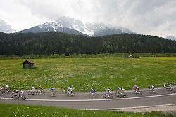 14 May 2008.92nd Giro d'Italia.Stage 06 : Bressanone - Mayrhofen (Austria).Peloton in flower garden.Photo by SPORTIDA / HOCH ZWEI / Grazia Neri / Yuzuru SUNADA