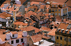 PORTUGAL LISBON MAY99 - View on the Alfama district from the Castelo.....jre/Photo by Jiri Rezac....© Jiri Rezac 1999....Tel:   +44 (0) 7050 110 417..Email: info@jirirezac.com..Web:   www.jirirezac.com