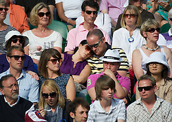 LONDON, ENGLAND - Monday, June 25, 2012: A spectator falls asleep during the Gentleman's Singles 1st Round match on the opening day of the Wimbledon Lawn Tennis Championships at the All England Lawn Tennis and Croquet Club. (Pic by David Rawcliffe/Propaganda)