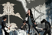 Dead Weather performing at the Austin City Limits Music Festival 2009, Austin Texas, October 4, 2009.  The Dead Weather is Alison Mosshart (of The Kills and Discount), Jack White (of The White Stripes and The Raconteurs), Dean Fertita (of Queens of the Stone Age) and Jack Lawrence (of The Raconteurs and The Greenhornes).  The Austin City Limits Music Festival is an annual three-day music festival in Austin, Texas's Zilker Park.