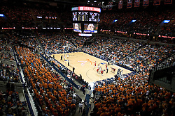 14,765 fans packed the John Paul Jones Arena at the University of Virginia to watch a men's basketball game against the University of Maryland.  The Cavaliers defeated the #22 ranked Terrapins 103-91  in Charlottesville, VA on January 16, 2007.