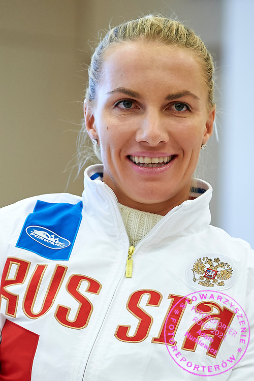 Svetlana Kuznetsova from Russia during official draw one day before the Fed Cup / World Group 1st round tennis match between Poland and Russia at Holiday Inn on February 6, 2015 in Cracow, Poland.<br /> <br /> Poland, Cracow, February 6, 2015<br /> <br /> Picture also available in RAW (NEF) or TIFF format on special request.<br /> <br /> For editorial use only. Any commercial or promotional use requires permission.<br /> <br /> Adam Nurkiewicz declares that he has no rights to the image of people at the photographs of his authorship.<br /> <br /> Mandatory credit:<br /> Photo by &copy; Adam Nurkiewicz / Mediasport