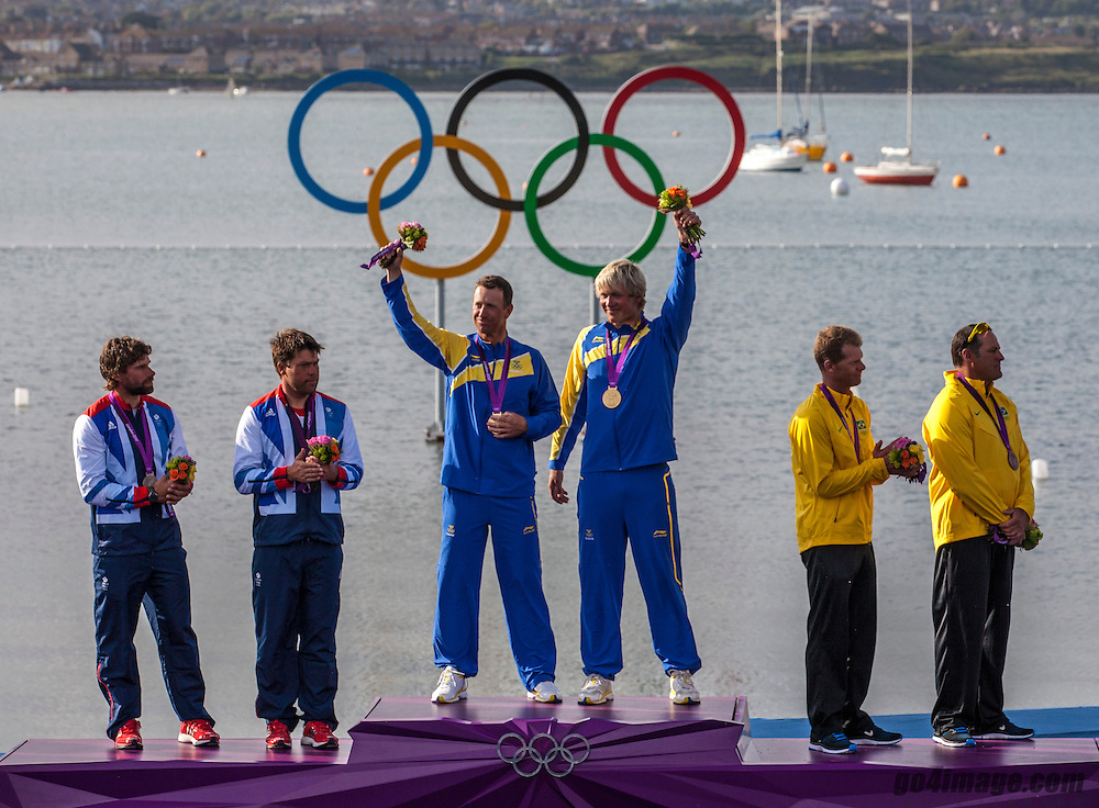GOLD medal Star class<br /> Loof Fredrik, Salminen Max, (SWE, Star)<br /> SILVER 	Percy Iain, Simpson Andrew, (GBR, Star)<br /> BRONZE   Scheidt Robert, Prada Bruno, (BRA, Star)<br /> <br /> 2012 Olympic Games <br /> London / Weymouth