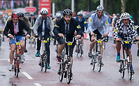 A view of the riders in the Brompton World Championship Final at Prudential RideLondon 29/07/2017<br /> <br /> Photo: Bob Martin/Silverhub for Prudential RideLondon<br /> <br /> Prudential RideLondon is the world's greatest festival of cycling, involving 100,000+ cyclists – from Olympic champions to a free family fun ride - riding in events over closed roads in London and Surrey over the weekend of 28th to 30th July 2017. <br /> <br /> See www.PrudentialRideLondon.co.uk for more.<br /> <br /> For further information: media@londonmarathonevents.co.uk