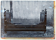 early 1900s product photo of wooden bed frame