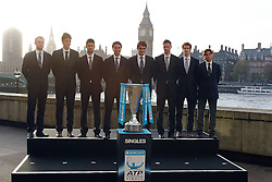 19.11.2010, Marriott County hall, London, ENG, ATP World Tour, Finals, im Bild Roddick, Andy (USA), Berdych, Tomas (CZE), Djokovic, Novak (SRB), Nadal, Rafael (ESP), Federer, Roger (SUI), Soderling, Robin (SWE), Murray, Andy (GBR) and Ferrer, David (ESP). EXPA Pictures © 2010, PhotoCredit: EXPA/ InsideFoto/ Hasan Bratic +++++ ATTENTION - FOR AUSTRIA/AUT, SLOVENIA/SLO, SERBIA/SRB an CROATIA/CRO CLIENT ONLY +++++