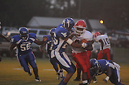 Water Valley's Devin Fleming (25) makes a tackle vs. Coffeeville in Coffeeville, Miss. on Friday, August 24, 2012. Water Valley won.
