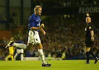 Fotball<br /> England 2005/2006<br /> Foto: SBI/Digitalsport<br /> NORWAY ONLY<br /> <br /> Everton v Villarreal. UEFA Champions League Qualifying.<br /> 09/08/2005.<br /> Everton's James Beattie celebrates his goal