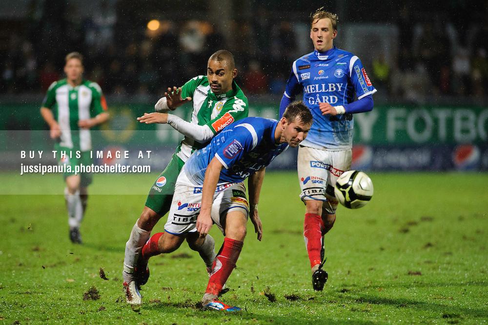 Football Superettan: Hammarby IF vs. Trelleborgs FF, 2012/10/29, Söderstadion, Stockholm, Sweden