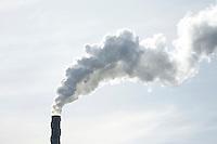 Big factory smoke stack.