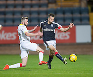Dundee&rsquo;s Cammy Kerr and Partick Thistle&rsquo;s Christie Elliot - Dundee v Partick Thistle in the Ladbrokes Scottish Premiership at Dens Park, Dundee. Photo: David Young<br /> <br />  - &copy; David Young - www.davidyoungphoto.co.uk - email: davidyoungphoto@gmail.com