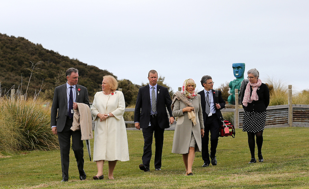 Camilla, Duchess of Cornwall during their visit to the Orokonui Ecosanctuary, Dunedin, New Zealand, Thursday, November 05, 2015. Credit:SNPA / Getty, Rob Jefferies **POOL**