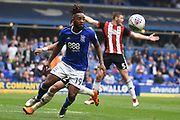 Birmingham City midfielder Jacques Maghoma (19) holds up the ball 1-1 during the EFL Sky Bet Championship match between Birmingham City and Sheffield United at St Andrews, Birmingham, England on 21 April 2018. Picture by Alan Franklin.