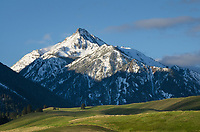 Wallowa Mountains, seen from Wallowa Valley, Oregon