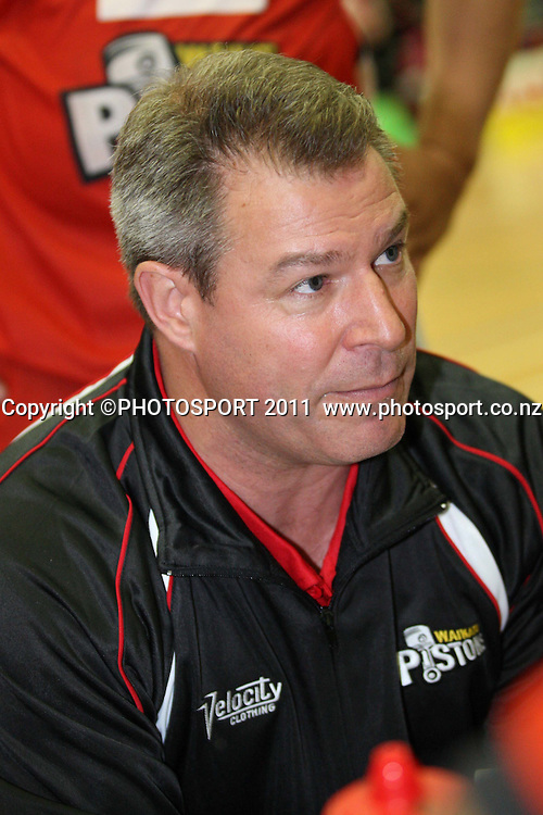 Pistons Head Coach Dean Vickerman during their NBL Game in Hamilton ,Basketball,Pistons Vs Saints , Wednesday 4 May 2011.<br /> Photo: Dion Mellow / photosport.co.nz