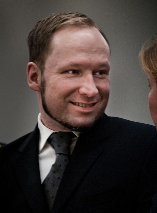 Anders Behring Breivik during the last day of his trial in Oslo Tinghus