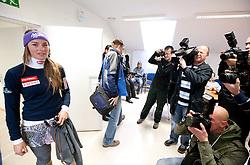 Tina Maze during press conference of Slovenian Alpine Ski team team before FIS Ski World Cup Opening race in Soelden (AUT) on October 18, 2010 in Ljubljana, Slovenia. (Photo by Vid Ponikvar / Sportida)