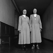 Seit 50 Jahreen gemeinsam im Kloster: wie aus zwei leiblichen Schwestern Ordensschwestern wurden, Visitandinnen-Kloster, Freiburg. Depuis 50 ans ensemble au monastère, deux soeurs Hinder, monastère de la visitation, Fribourg. © Romano P. Riedo