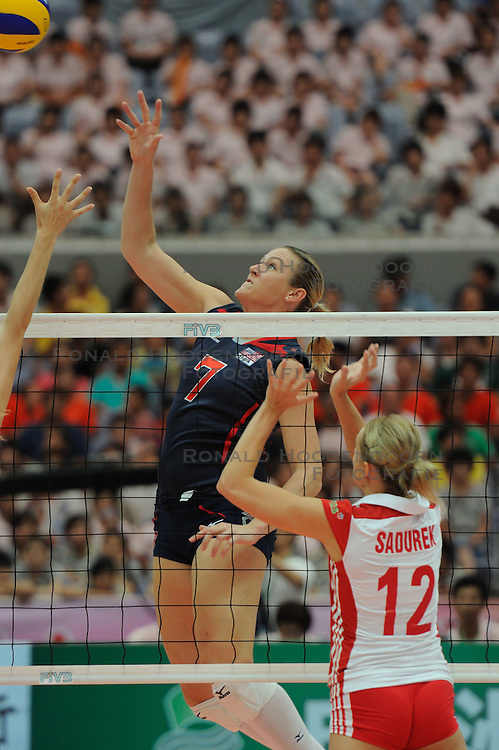 25-08-2010 VOLLEYBAL: WGP FINAL USA - POLAND: BEILUN NINGBO<br /> Heather Bown USA<br /> &copy;2010-WWW.FOTOHOOGENDOORN.NL