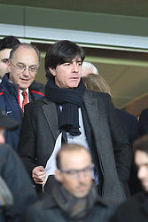 19.02.2014, Emirates Stadion, London, ESP, UEFA CL, FC Arsenal vs FC Bayern Muenchen, Achtelfinale, im Bild Chef-Trainer Joachim LOEW (Deutschland) // during the UEFA Champions League Round of 16 match between FC Arsenal and FC Bayern Munich at the Emirates Stadion in London, Great Britain on 2014/02/19. EXPA Pictures © 2014, PhotoCredit: EXPA/ Eibner-Pressefoto/ Kolbert<br /> <br /> *****ATTENTION - OUT of GER*****