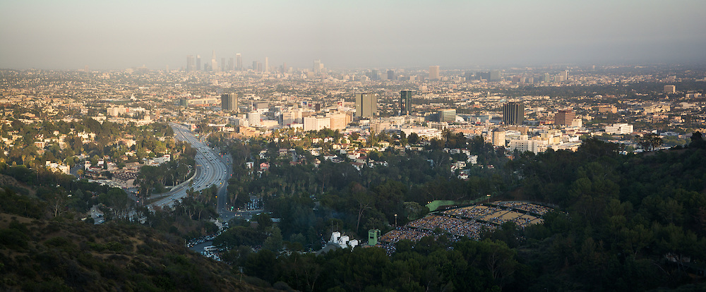 The 101 Freeway, Hollywood Bowl & Downtown Los Angeles, California, USA