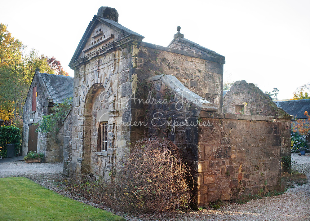 Original 'doocot' (dovecot) building in the front courtyard