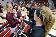 November 3, 2018: The York College Panthers play against the Oklahoma Christian University Lady Eagles in a homecoming exhibition game in the Eagles Nest on the campus of Oklahoma Christian University.
