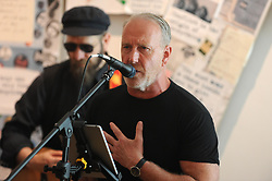 THE SKIDS, DUNFERMLINE, 17-05-2018<br /> <br /> The Skids open the exhibition at the Dunfermline library and museum - Richard Jobson<br /> <br /> (c) David Wardle