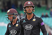 Ben Foakes during the Royal London 1 Day Cup match between Surrey County Cricket Club and Kent County Cricket Club at the Kia Oval, Kennington, United Kingdom on 12 May 2017. Photo by Jon Bromley.